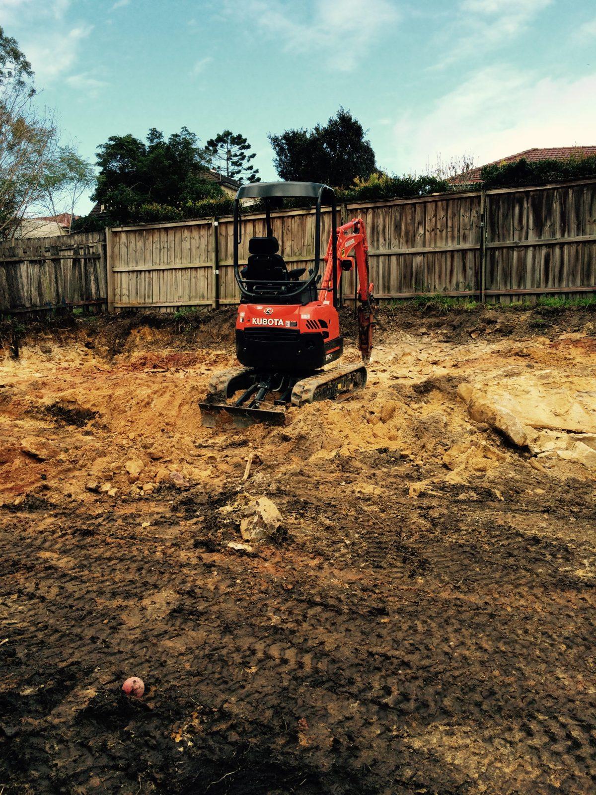 earthmovers and excavators